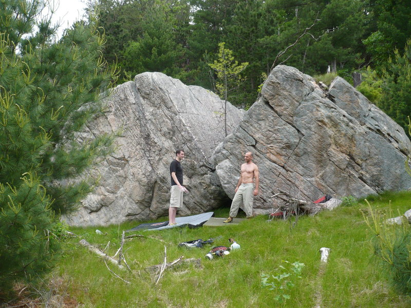 Rock Climbing Photo: Paul and Mike enjoying a great day at the mound.