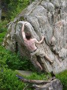 Rock Climbing Photo: John continuing his send.