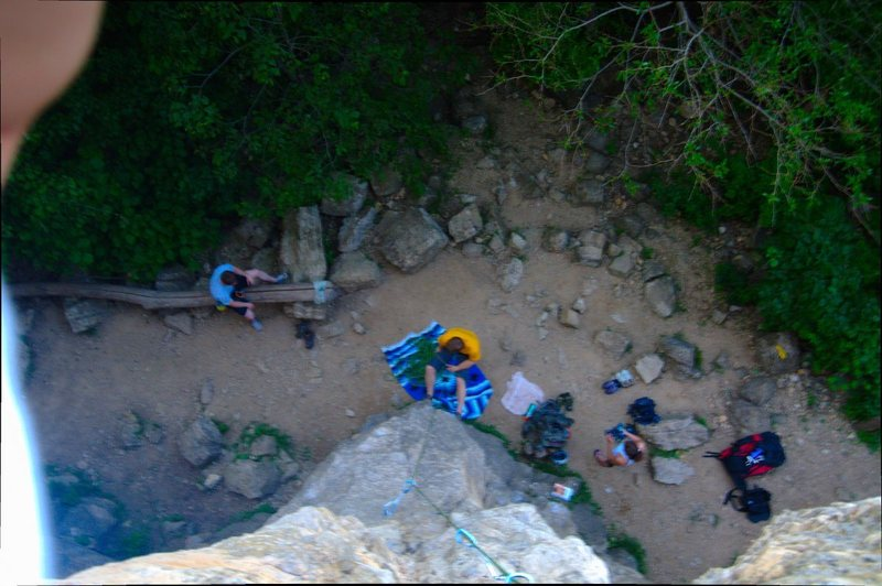 Rock Climbing Photo: View from the top of Sunburst