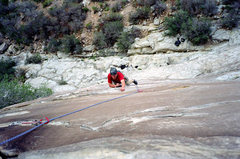 Rock Climbing Photo: Very cool climbing on Pitch 1 of the Gobbler. Nate...