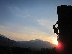 Rock Climbing Photo: The legendary Ben Johnson on Blunt Boy.