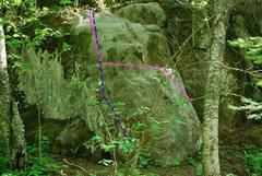 Rock Climbing Photo: Blue-Jinkies Pink-Disappointment