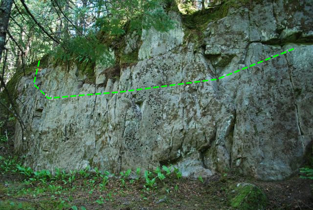 Rock Climbing Photo: Sassafrass traverse climb.