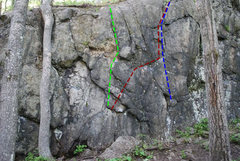 Rock Climbing Photo: Green-Top Out Problem Red-Biking in Duluth Blue-Xm...