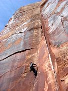 Rock Climbing Photo: Gary leading pitch one