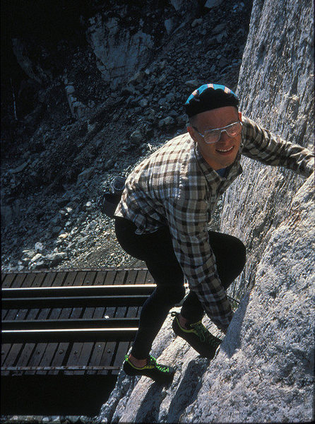 Soloing the east face in the mid-90s, 30 years after the FA