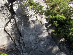 Rock Climbing Photo: Marking at the start of Gooseberry