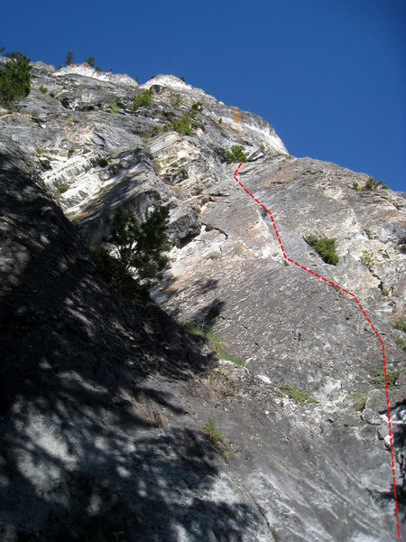 Rock Climbing Photo: Pitch 1 of Gooseberry (5.8, 7 pitches)