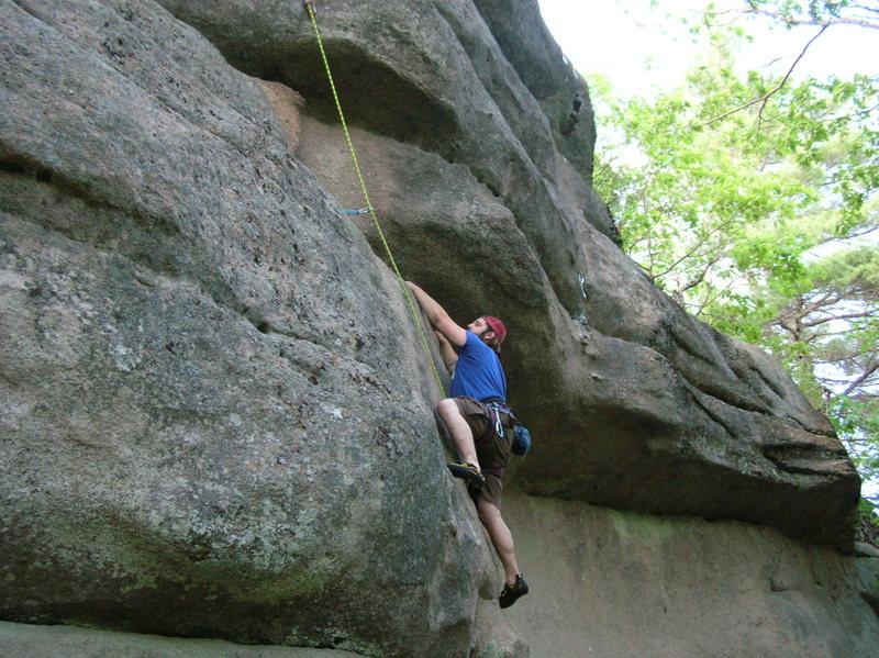 Rock Climbing Photo: The start of 24, a fun little 5.8 warm up.