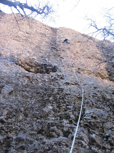 Rock Climbing Photo: Missi leading PGP.
