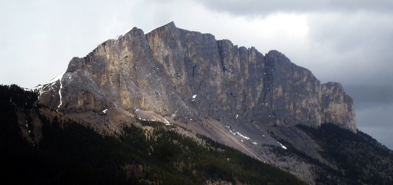 Rock Climbing Photo: Yamnuska as seen from Kid Goat
