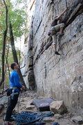 Rock Climbing Photo: The start of Miss Prissy
