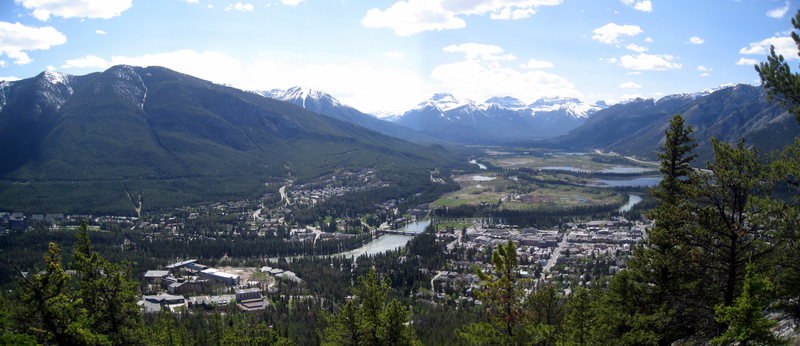 Rock Climbing Photo: Banff, as seen from the summit of Tunnel Mountain ...