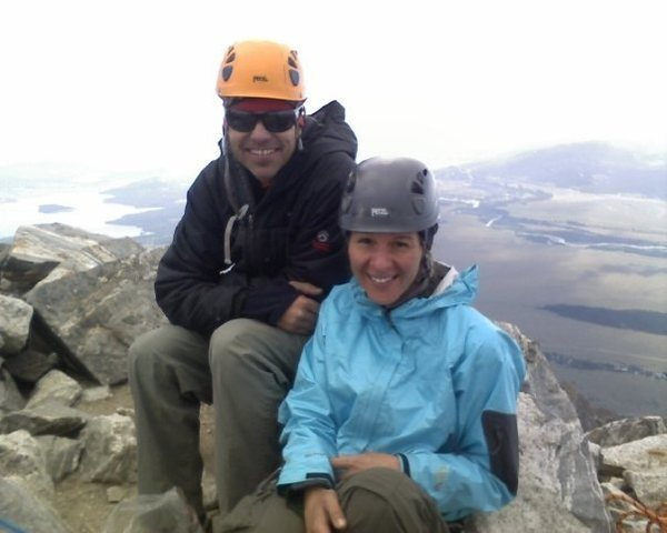 My climbing partner and I on the summit of the Grand.