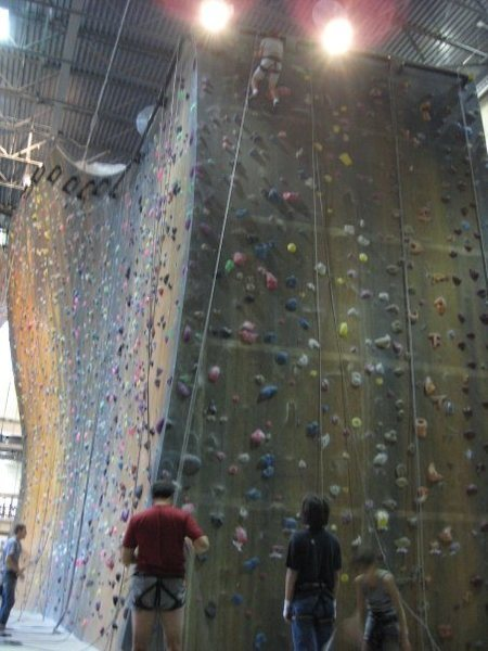 4 story climbing gym to keep the strength in the winter months.
