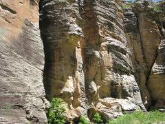 Rock Climbing Photo: MK continues on Superbody-Yo.