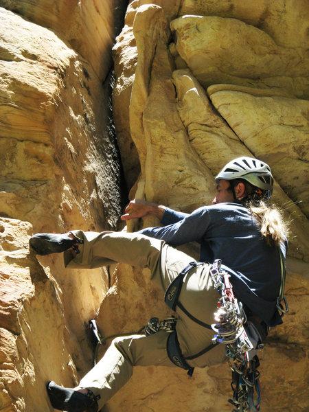 Rock Climbing Photo: MK making a move on Superbody-Yo.