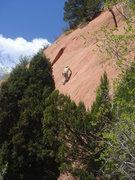 Rock Climbing Photo: Roland leading Icarus.