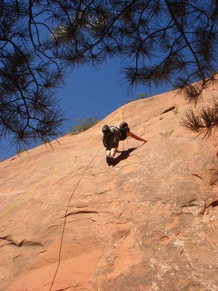 Rock Climbing Photo: Myong climbing Isis.