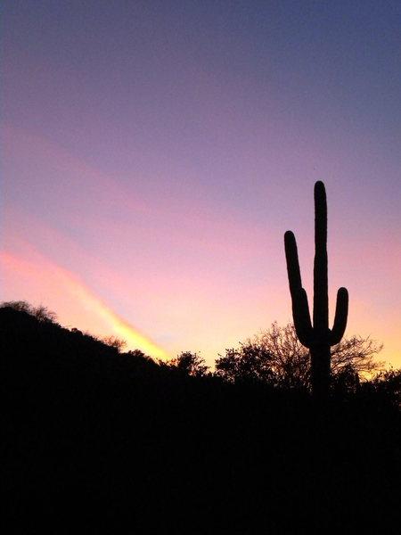 Rock Climbing Photo: Typical winter AZ sunset!