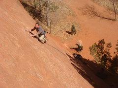 Rock Climbing Photo: Lee Rittenmeyer leading El Sol.