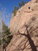 Rock Climbing Photo: Ashley cruising up Pikes Peak.