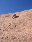 Rock Climbing Photo: Lee Rittenmeyer heading up The Plunge.