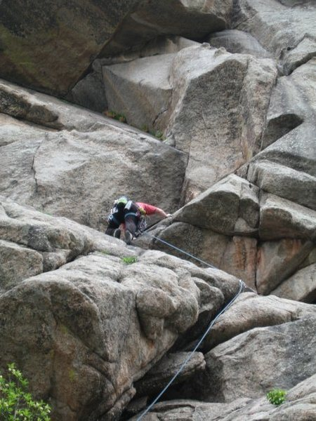 Rock Climbing Photo: leading the dome
