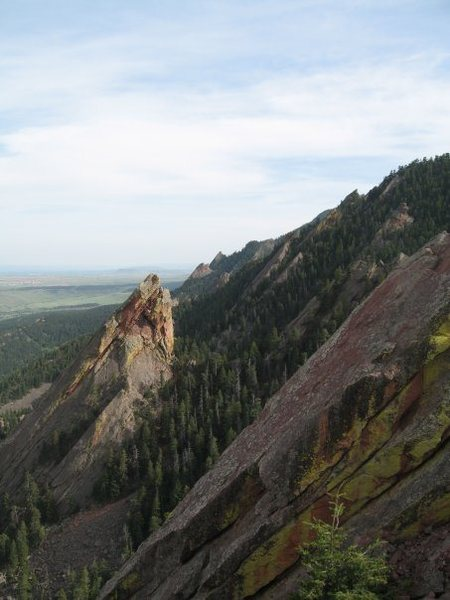 Rock Climbing Photo: second and third flat iron