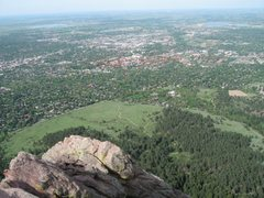 Rock Climbing Photo: city of boulder from top of first flat iron