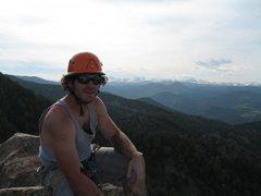 Rock Climbing Photo: top of first flat iron