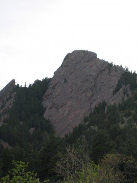 Rock Climbing Photo: all 1400 feet of it first flat iron