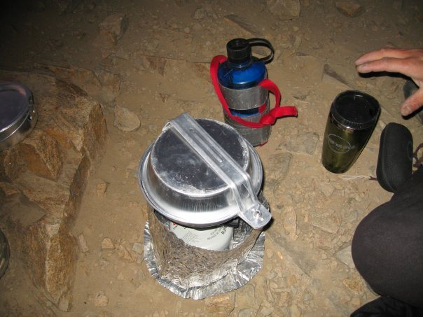 Rock Climbing Photo: making some tea trying to stay warm