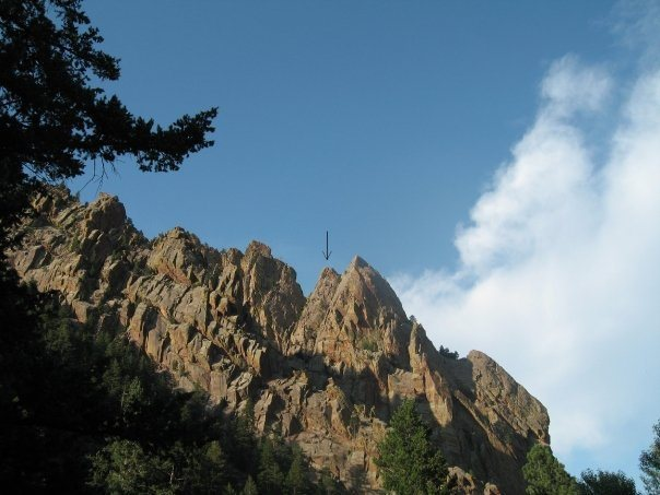 the arrow is swansens arete red garden wall eldorado canyon