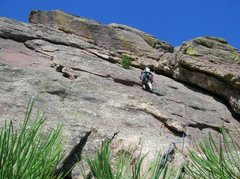 Rock Climbing Photo: me leading from second anchor to third first flat ...