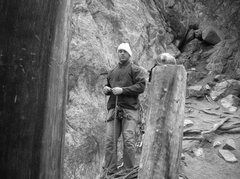 Rock Climbing Photo: setting up for a day climbing independence pass