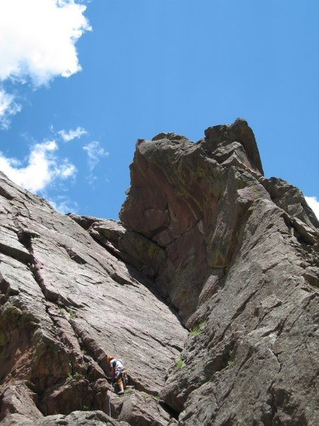 Rock Climbing Photo: West Dihedral from belay area.