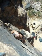 Rock Climbing Photo: Me on lead, nearing the anchors.  Cool Katz in the...
