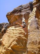 Rock Climbing Photo: Great spot for a Spiderman rappel.  Awesome overha...