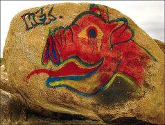 Rock Climbing Photo: New grafitti. Photo by Blitzo.