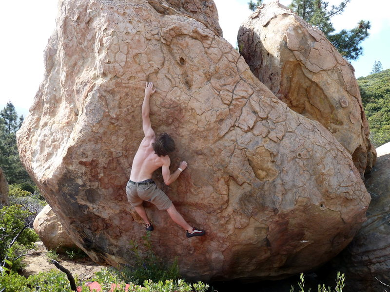 Rock Climbing Photo: The throw