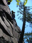 Rock Climbing Photo: Mike Sohasky leading the second pitch of adventure...