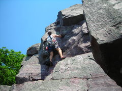 Rock Climbing Photo: Trying to get as high on rock (climbing.. that is)...