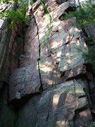 Rock Climbing Photo: Dippy Diagonal right variation marked.