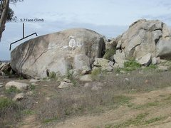 Rock Climbing Photo: The Left side of this climb is NOT even close to 5...