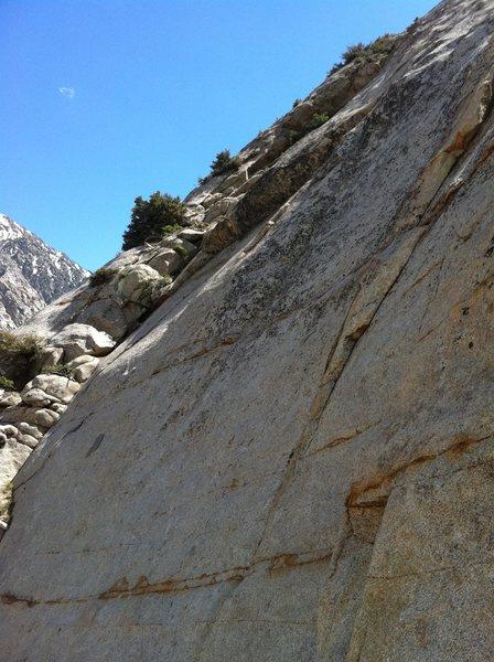 Rock Climbing Photo: Roof and slab of Digi on PSOM Slab