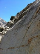 Rock Climbing Photo: Roof and slab of Digi on PSOM Slab