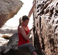 Rock Climbing Photo: first problem in hueco
