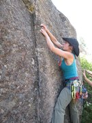 Rock Climbing Photo: starting a trad line