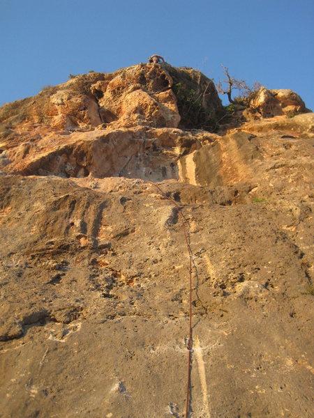 Rock Climbing Photo: D. Cool at the top